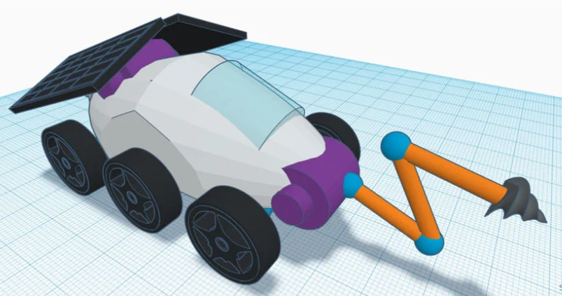 Lunar Rover in Tinkercad