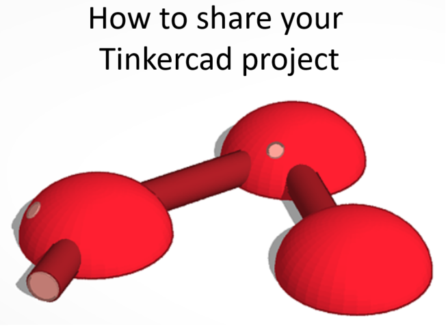 How to share a public link with Tinkercad